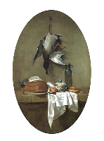 Duck with an Olive Jar, Jean-Baptiste-Simeon Chardin, 1764