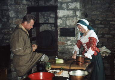 Cooking in Fort Niagara's Kitchen